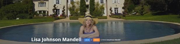 Lisa Johnson Mandell at the Malibu Chateau