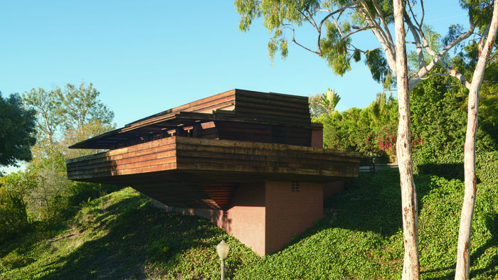 Frank Lloyd Wright Auction -- Sturges House Plus Remarkable Modern Art exterior