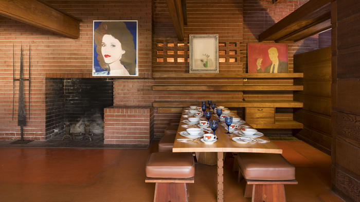 Frank Lloyd Wright Auction -- Sturges House Plus Remarkable Modern Art interior