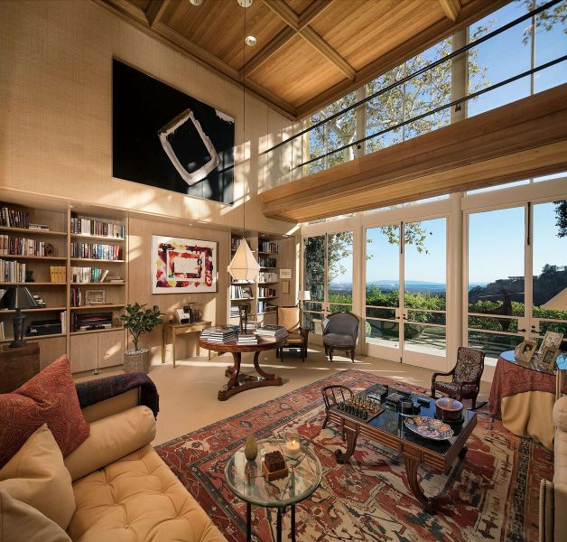 Norman Lear estate living room