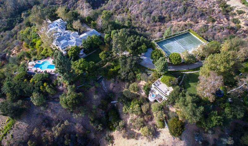 Norman Lear estate birds eye view
