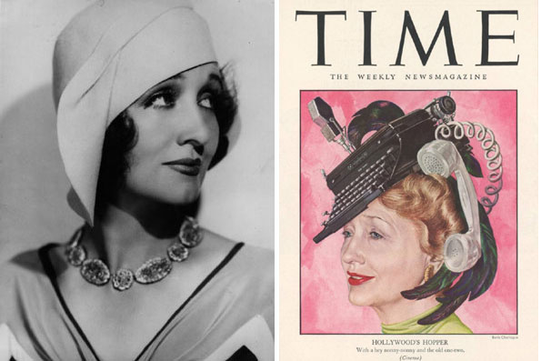 Hedda Hopper from screen to page